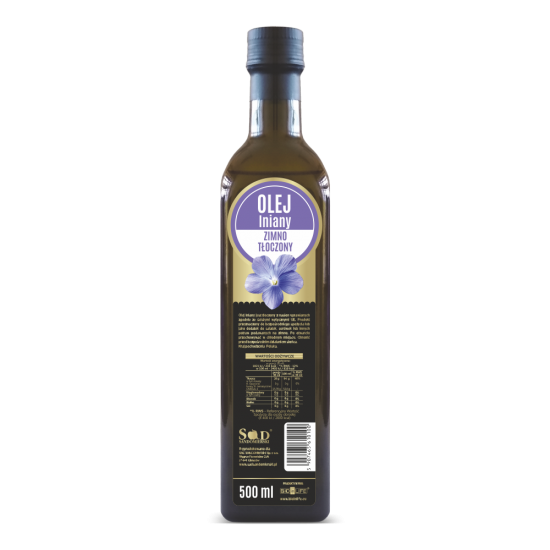 Oil from linseed 500ml cold pressed