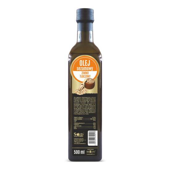 Olej sezamowy 500ml zimno tłoczony