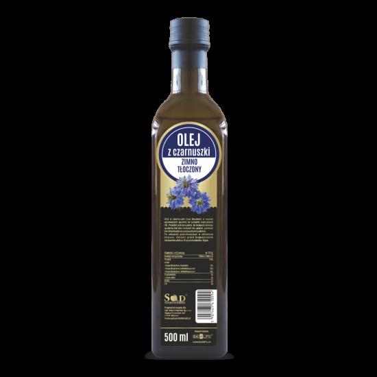 Olej z czarnuszki 500ml zimno tłoczony